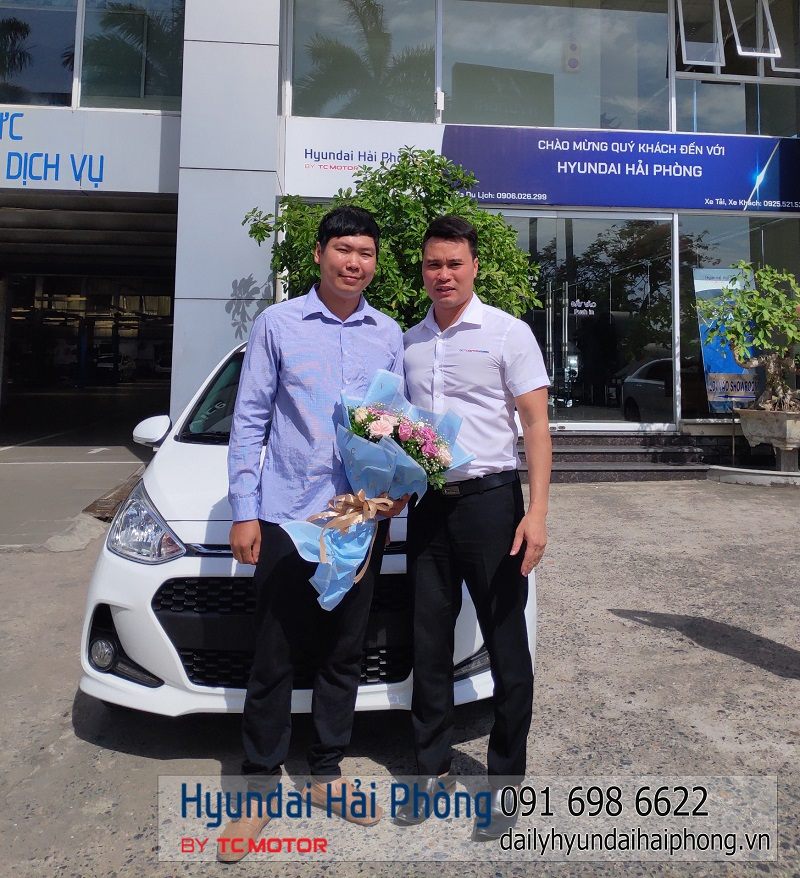 Hyundai Hải Phòng bàn giao xe I10